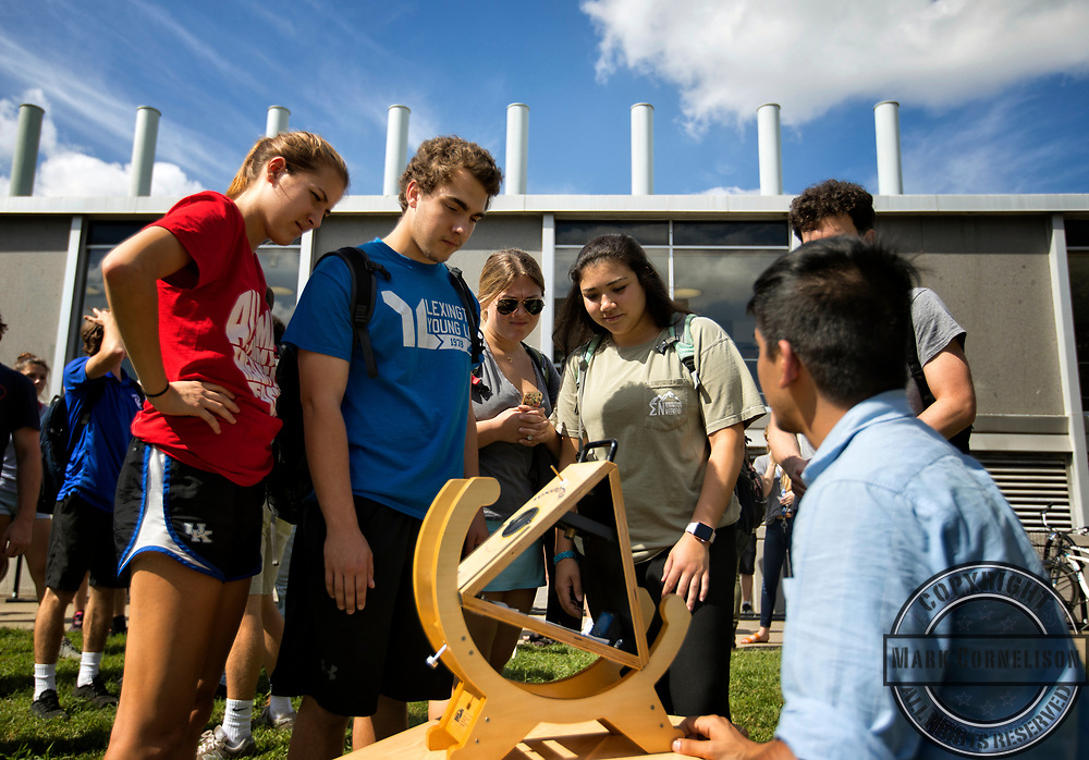 Outdoor class at ChemPhys  on Thursday September 28, 2017 in Lexington, Ky. Photo by Mark Cornelison /UKphoto