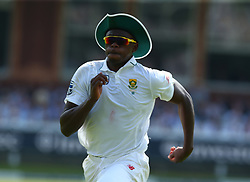 July 6, 2017 - London, United Kingdom - Kagiso Rabada of South Africa .during 1st Investec Test Match between England and South Africa at Lord's Cricket Ground in London on July 06, 2017  (Credit Image: © Kieran Galvin/NurPhoto via ZUMA Press)