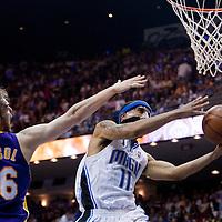 BASKET BALL - FINALS NBA 2008/2009 - LOS ANGELES LAKERS V ORLANDO MAGIC - GAME 5 -  ORLANDO (USA) - 14/06/2009 - .LEE COURTNEY (ORLANDO MAGIC), PAU GASOL (LOS ANGELES LAKERS)