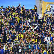 Fenerbahce's supporters during their Turkish Super League soccer match Akhisar Belediye Genclik Spor between Fenerbahce at the 19 Mayis Stadium in Manisa Turkey on Sunday, 06 March 2016. Photo by TURKPIX