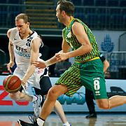 Efes Pilsen's Sinan GULER (L) during their Turkish Basketball league match Efes Pilsen between Olin Edirne at the Sinan Erdem Arena in Istanbul Turkey on Friday 06 May 2011. Photo by TURKPIX