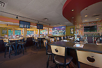 Architectural interior of Applebees restaurant in Waldorf MD by Jeffrey Sauers of Commercial Photographics