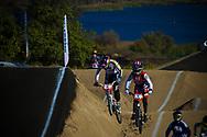 #6 (PAJON Mariana) COL at  #4 (MARTIN Arielle) USA at the 2013 UCI BMX Supercross World Cup in Chula Vista