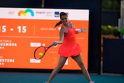 March 23, 2019 - Miami, FLORIDA, USA - Viktoria Kuzmova of Slovakia in action during her third-round match at the 2019 Miami Open WTA Premier Mandatory tennis tournament (Credit Image: © AFP7 via ZUMA Wire)