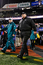 Philadelphia Eagles Head Coach Andy Reid enters the field before the NFL game between the Philadelphia Eagles and the New York Giants on December 13th 2009. The Eagles won 45-38 at Giants Stadium in East Rutherford, New Jersey. (Photo By Brian Garfinkel)