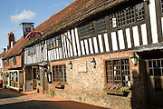 Historic timbered The George Inn, Alfriston, East Sussex, England