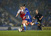 Brighton and Hove Albion Women's defender Deanna Cooper during the FA Women's Premier League match between Brighton Ladies and Charlton Athletic WFC at the American Express Community Stadium, Brighton and Hove, England on 6 December 2015.