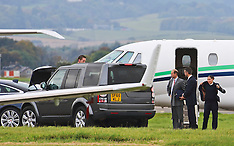 Prince Edward Arrives at Glasgow Airport   Glasgow   12 October 2016