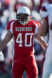 14 October 2006: Cameron Siskowic.&#xD;The 6th largest crowd at Hancock Stadium came to watch a game that put 8th ranked Southern Illinois Salukis against 5th ranked Illinois State University Redbirds.  The Redbirds stole the show for a Homecoming win by a score of 37 - 10. Competition commenced at Hancock Stadium on the campus of Illinois State University in Normal Illinois.<br />