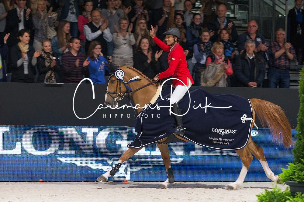 Schwizer Pius (SUI) - Quidam du Vivier<br /> Longines FEI World Cup™ Jumping Final 2013/2014<br /> Lyon 2014<br /> © Dirk Caremans