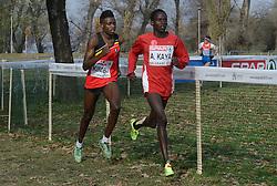 08-12-2013 ATHLETICS: SPAR EC CROSS COUNTRY: BELGRADE<br /> Junior men 6 km / (L-R) Isaac Kimeli BEL en winnaar Ali Katya TUR<br /> ©2013-WWW.FOTOHOOGENDOORN.NL