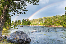 Rainbow over the Boulder River near Big Timber Montana. Seeing the boulders strewn about it makes it easy to understand the name.
