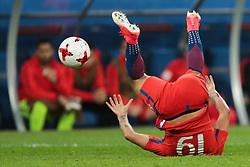 July 2, 2017 - Saint Petersburg, Russia - Leonardo Valencia of the Chile national football team vie for the ball during the 2017 FIFA Confederations Cup final match between Chile and Germany at Saint Petersburg Stadium on July 02, 2017 in St. Petersburg, Russia. (Credit Image: © Igor Russak/NurPhoto via ZUMA Press)