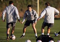Photo: Paul Thomas.<br />England training session. 05/02/2007.<br /><br />Joey Barton during England training.