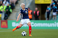 Lana Clelland (#19) of Scotland shoots during the FIFA Women's World Cup UEFA Qualifier match between Scotland Women and Belarus Women at Falkirk Stadium, Falkirk, Scotland on 7 June 2018. Picture by Craig Doyle.