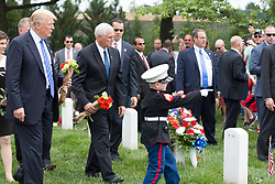 President Donald Trump participates in the Memorial Day Ceremony at Arlington National Cemetery Monday, May 29, 2017, in Arlington, Virginia.  (Official White House Photo by Shealah Craighead)