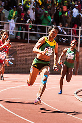 Penn Relays, USA vs the World, womens 4 x 200 meter relay, Morris, Jamaica
