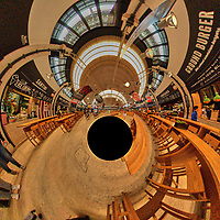 Time Out Market. Tunnel View. Composite of 19 images taken with a Nikon D850 camera and 8-15 mm fisheye lens (ISO 3200, 15 mm, f/8, 1/125 sec). Raw images processed with Capture One Pro and Auto Pano Giga.