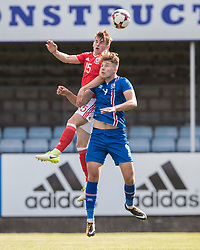 RHYL, WALES - Saturday, September 2, 2017: Wales' Rhys Norrington-Davies in action during an Under-19 international friendly match between Wales and Iceland at Belle Vue. (Pic by Gavin Trafford/Propaganda)