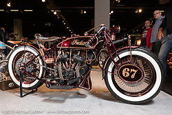 Angelo Lanciano's American Dreams' 1927 Indian Scout custom from Lissone, Italy in the AMD World Championship of Custom Bike Building in the Intermot Customized hall during the Intermot International Motorcycle Fair. Cologne, Germany. Sunday October 7, 2018. Photography ©2018 Michael Lichter.