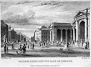 College Green and the Bank of Ireland From the guide book ' The new picture of Dublin : or Stranger's guide through the Irish metropolis, containing a description of every public and private building worthy of notice ' by Hardy, Philip Dixon, 1794-1875. Published in Dublin in 1831 by W. Curry.