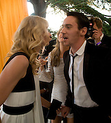 JOELY RICHARDSON AND JONATHAN RHYS MEYERS, Raisa Gorbachev Foundation Party, at the Stud House, Hampton Court Palace on June 7, 2008 in Richmond upon Thames, London,Event hosted by Geordie Greig and is in aid of the Raisa Gorbachev Foundation - an international fund fighting child cancer.  7 June 2008.  *** Local Caption *** -DO NOT ARCHIVE-© Copyright Photograph by Dafydd Jones. 248 Clapham Rd. London SW9 0PZ. Tel 0207 820 0771. www.dafjones.com.