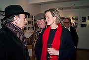 ADRIAN GEORGE; DAVID LITCHFIELD; CAROLINE SCHMITZ, The Way We Wore.- Photographs of parties in the 70's by Nick Ashley. Sladmore Contemporary. Bruton Place. London. 13 January 2010. *** Local Caption *** -DO NOT ARCHIVE-© Copyright Photograph by Dafydd Jones. 248 Clapham Rd. London SW9 0PZ. Tel 0207 820 0771. www.dafjones.com.<br /> ADRIAN GEORGE; DAVID LITCHFIELD; CAROLINE SCHMITZ, The Way We Wore.- Photographs of parties in the 70's by Nick Ashley. Sladmore Contemporary. Bruton Place. London. 13 January 2010.