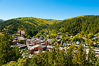 Overview of Deadwood, Black Hills, South Dakota USA