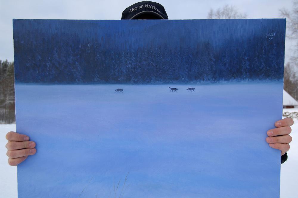 Art of nature, Rattvik, Dalarna, Sweden