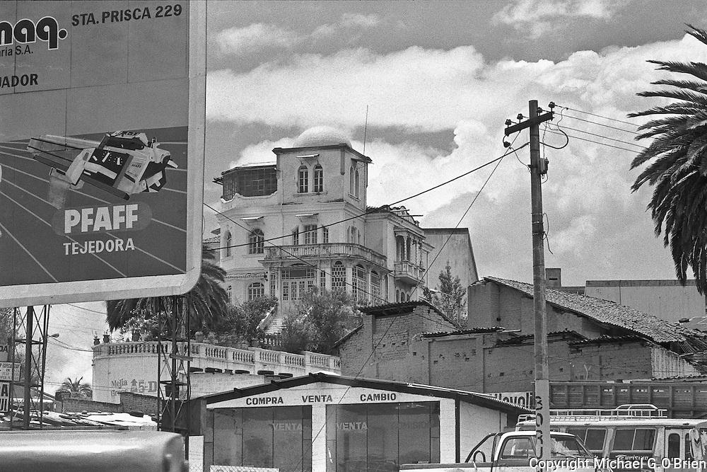 Colonial architecture in downtown Quito, Ecuador