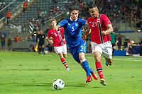 Fotball<br /> EM U21 Israel<br /> 11.06.2013<br /> Norge v Italia 1:1<br /> Foto: VI Images/Digitalsport<br /> NORWAY ONLY<br /> <br /> (L-R) Vegar Hedenstad of Norway U21, Marco Capuano of Italy U21, Joshua King of Norway U21 during the UEFA U21 Championship match between Norway U21 and Italy U21 on June 11, 2013 at the Bloomfield stadium in Tel Aviv, Israel.