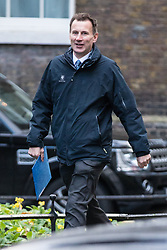 © Licensed to London News Pictures. 28/11/2017. London, UK. Health Secretary Jeremy Hunt arrives on Downing Street for the weekly Cabinet meeting. Photo credit: Rob Pinney/LNP
