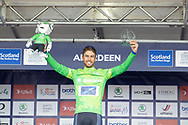 Jacob Scott winner of the King of the Mountains jersey during the presentation after Stage 8 of the AJ Bell Tour of Britain 2021 between Stonehaven to Aberdeen, , Scotland on 12 September 2021.