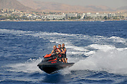 People on a Jet Ski, Eilat, Israel