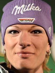 27.12.2010, Hauptplatz, Neunkirchen, AUT, FIS, Startnummernauslosung fuer Riesentorlauf Weltcup Semmering 2010, im Bild Maria Riesch (GER), EXPA Pictures © 2010, PhotoCredit: EXPA/ S. Trimmel