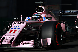 June 24, 2017 - Baku, Azerbaijan - Sergio Perez of Mexico driving the (11) Sahara Force India F1 Team on track during final practice for the Azerbaijan Formula One Grand Prix at Baku City Circuit. (Credit Image: © Aziz Karimov/Pacific Press via ZUMA Wire)