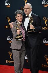 Jeffrey Tambor & Jill Soloway  im Press Room bei der Verleihung der 68. Primetime Emmy Awards in Los Angeles / 180916<br /> <br /> *** 68th Primetime Emmy Awards in Los Angeles, California on September 18th, 2016***