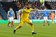 Andy Barcham (17) of AFC Wimbledon during the EFL Sky Bet League 1 match between Portsmouth and AFC Wimbledon at Fratton Park, Portsmouth, England on 1 January 2019.