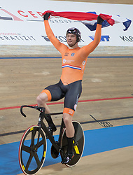 February 28, 2019 - Pruszkow, Poland - Matthijs Buchli (NED) on day two of the UCI Track Cycling World Championships held in the BGZ BNP Paribas Velodrome Arena on February 28, 2019 in Pruszkow, Poland. (Credit Image: © Foto Olimpik/NurPhoto via ZUMA Press)