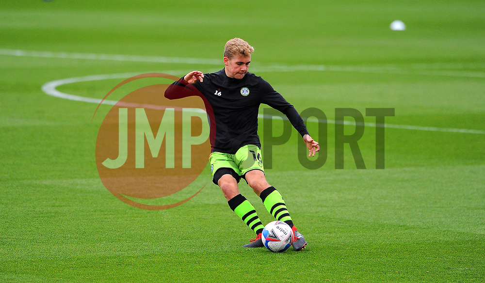 Jack Evans of Forest Green Rovers warms up prior to kick-off - Mandatory by-line: Nizaam Jones/JMP - 17/10/2020 - FOOTBALL - innocent New Lawn Stadium - Nailsworth, England - Forest Green Rovers v Stevenage - Sky Bet League Two