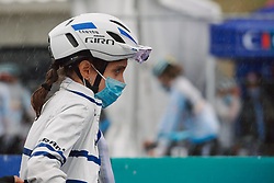 Omer Shapira (ISR) makes her way to the team presentation at the 2020 UEC Road European Championships - Elite Women Road Race, a 109.2 km road race in Plouay, France on August 27, 2020. Photo by Sean Robinson/velofocus.com