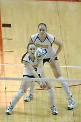 24 November 2006: Melissa Granville digs up a serve during a Semi-final match between the Missouri State Bears and the Wichita State Shockers. The Tournament was held at Redbird Arena on the campus of Illinois State University in Normal Illinois.<br />