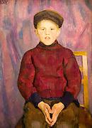 'A Boy' undated oil painting on canvas by Erik Werenskiold 1855-1938, Kode 3 art gallery Bergen, Norway