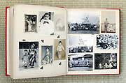 open page of a family photo album Japan Asia 1950s 1960s
