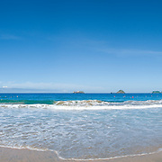 Beach at Ixtapa, a planned resort area near Zihuatanejo. High resolution panorama.