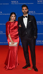 Beena Minhaj (L) and host, comedian Hasan Minhaj arrive for the White House Correspondents' Association (WHCA) dinner in Washington, D.C., on Saturday, April 29, 2017 (Photo by Riccardo Savi)  *** Please Use Credit from Credit Field ***