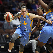 UNCASVILLE, CONNECTICUT- MAY 05:  Jacki Gemelos #5 of the Chicago Sky in action during the Atlanta Dream Vs Chicago Sky preseason WNBA game at Mohegan Sun Arena on May 05, 2016 in Uncasville. (Photo by Tim Clayton/Corbis via Getty Images)