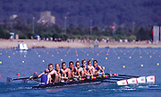 Sydney, AUSTRALIA, GBR M8+  Heats - Gold medal winners at the Olympic Regatta, Penrith Lakes. NS 2000 Olympic Regatta Sydney International Regatta Centre (SIRC) 2000 Olympic Rowing Regatta00085138.tif