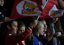 Young supporter waves a flag at Ashton Gate Stadium - Mandatory by-line: Paul Knight/JMP - 01/10/2016 - FOOTBALL - Ashton Gate Stadium - Bristol, England - Bristol City v Nottingham Forest - Sky Bet Championship