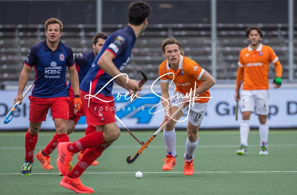 AMSTELVEEN - Jorrit Croon (Bldaal) tijdens de halve finale wedstrijd mannen EURO HOCKEY LEAGUE (EHL),  HC Bloemendaal- Royal Leopold Club (Bel)(1-1) Bloemendaal wint shoot outs en plaatst zich voor de finale.  COPYRIGHT  KOEN SUYK